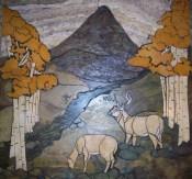 Deer mural by A Pile of Tile