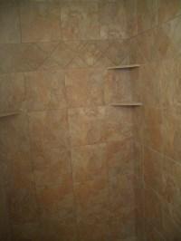 Building a corner shelf for your shower