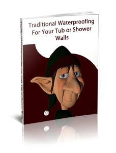 Traditional Waterproofing for Tub and Shower Walls