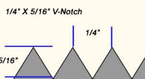 "1/4"" X 5/16"" V-notch trowel"