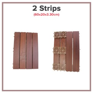 IPE Wood Decking 2 Strips