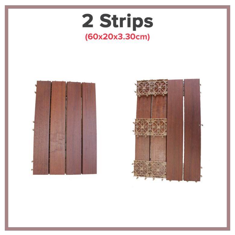 IPE Wood Decking 2 Strips