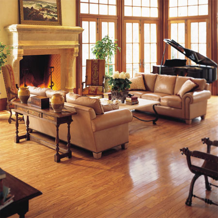 oak wood floor living room small with no coffee table rooms flooring idea pulaski plank light by hartco ideas and choices