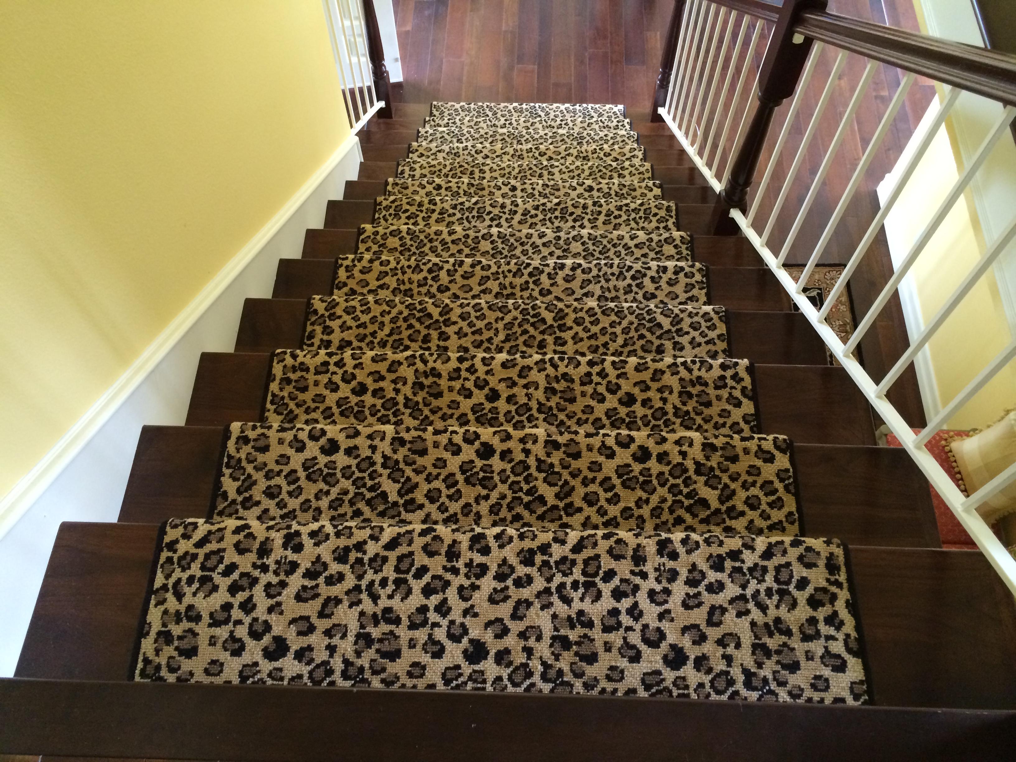 Animal Print Stair Runner Carpet