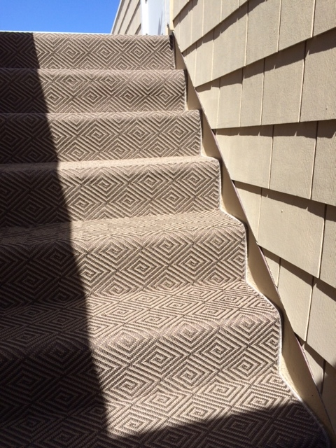 Indoor Outdoor Carpet For Roof Deck Hemphill S Rugs Carpets   Indoor Outdoor Carpet For Stairs   Grey   Electric Blue   Wall   Carpet Runner   Trim