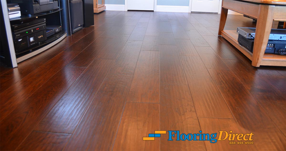 Woodlook Tile Flooring Installation Before and After Pictures in DFW  Flooring Direct
