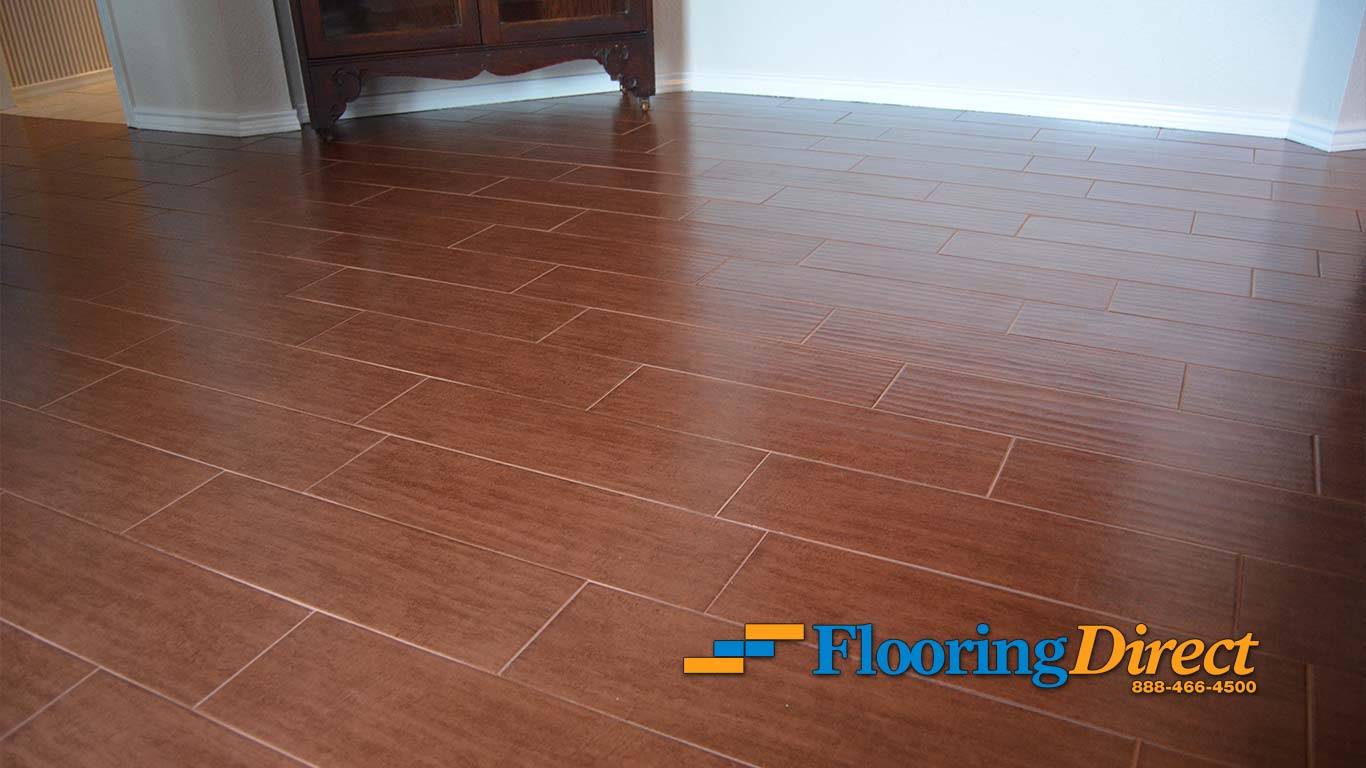Woodlook Tile Flooring Installation Pictures in Richardson  Flooring Direct