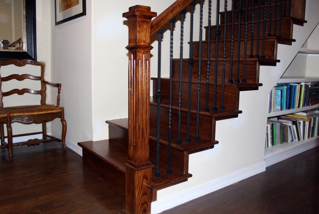White Oak Stair Treads And Risers ‹ Esl Hardwood Floors Portfolio   Unfinished Stair Treads And Risers   Glue Block   Engineered Hardwood   Remodel   Hardwood   Oak
