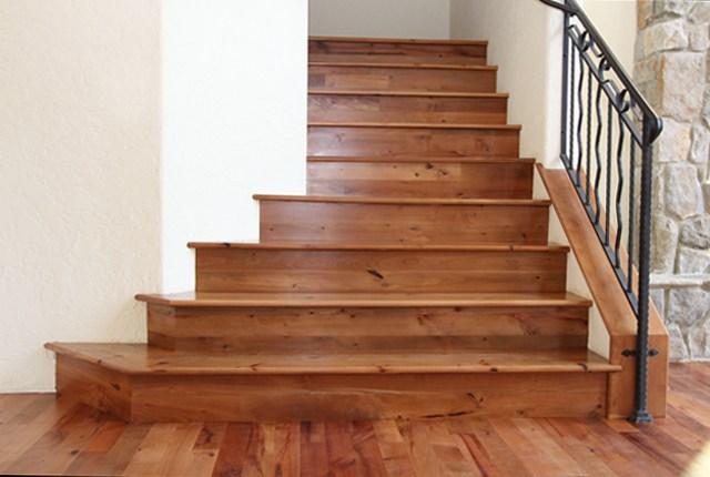 Esl Hardwood Floors Portfolio Hardwood Flooring Photo Gallery   Finished Stair Treads And Risers   Laminate   Pie Shaped   Engineered Hardwood   Rustic   Remodel