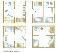 Small Bathroom Floor Plan Inspiration for Your Small ...