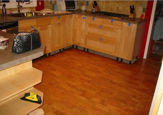 cork floor kitchen fall decor positive and negative facts about flooring for eco