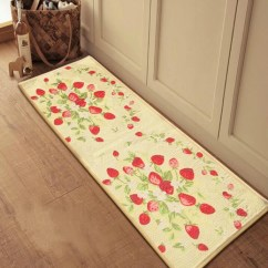 Cheap Kitchen Floor Mats Unfinished Cabinets Online Decorative Check The Design To Impress You Strawberry Printing Motif