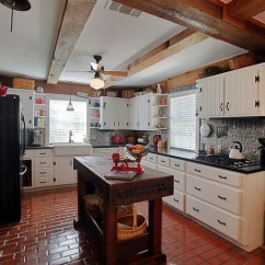 Brick Floor Kitchen Cabinets Drawers Polished Tile In Modern Rustic Flooring Ideas Classic And Elegant Style Home