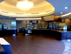 FSI commercial flooring & countertops for Cafeteria Forest Park Medical Center