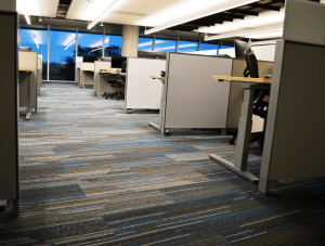 FSI commercial flooring for Corporate Sales Office & Hallway