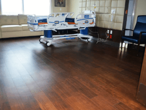 FSI commercial flooring for Forest Park Medical Center patient rooms