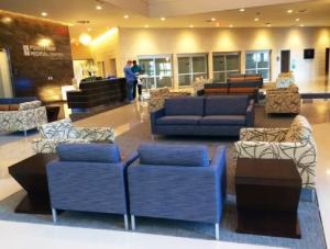 FSI commercial flooring for Forest Park Medical Center seating area