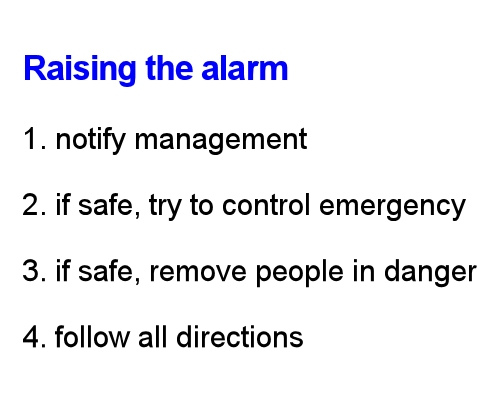 Safety at work, Dealing with emergencies, Emergency