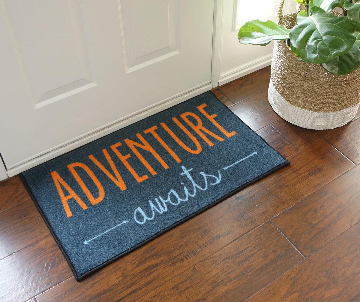 2x3 kitchen rug dish rack adventure awaits door mat - floormatshop.com commercial ...
