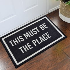 2x3 Kitchen Rug Garden Window Lowes Talking Heads This Must Be The Place Novelty Door Mat ...