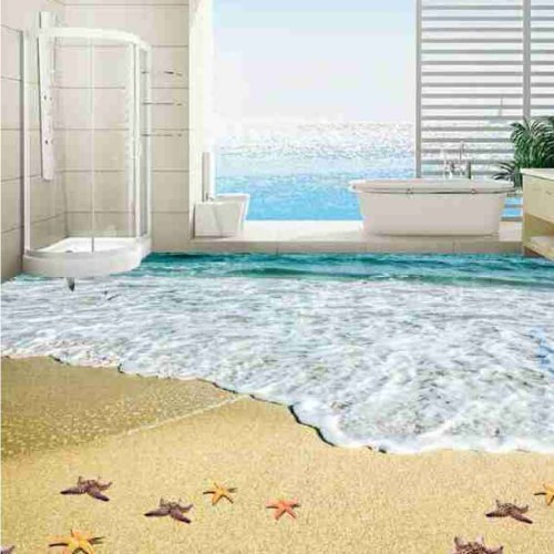 3D Beach View Epoxy Flooring