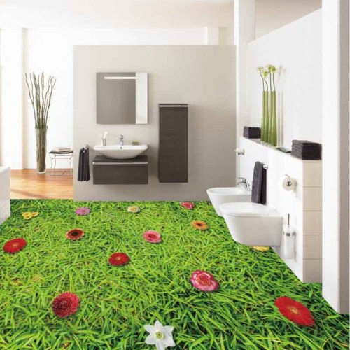 3D Carpet Grass Epoxy Flooring