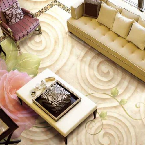3D Cream Classic Epoxy Flooring