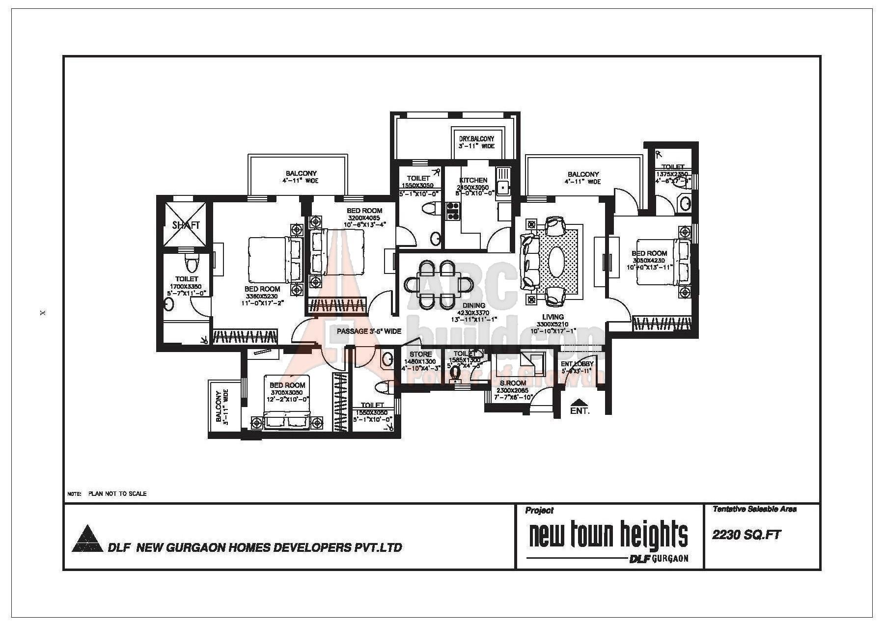 Dlf New Town Heights Floor Plan Floorplan In