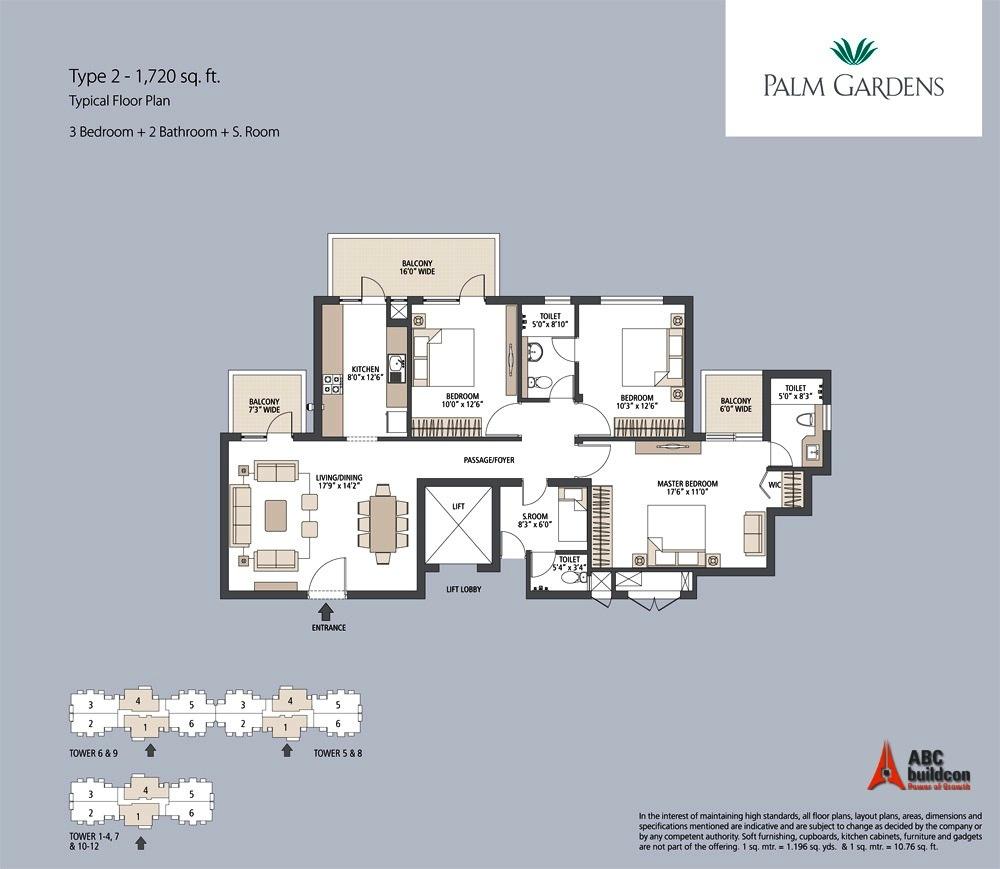 Emaar Mgf Palm Gardens Floor Plan Floorplan In