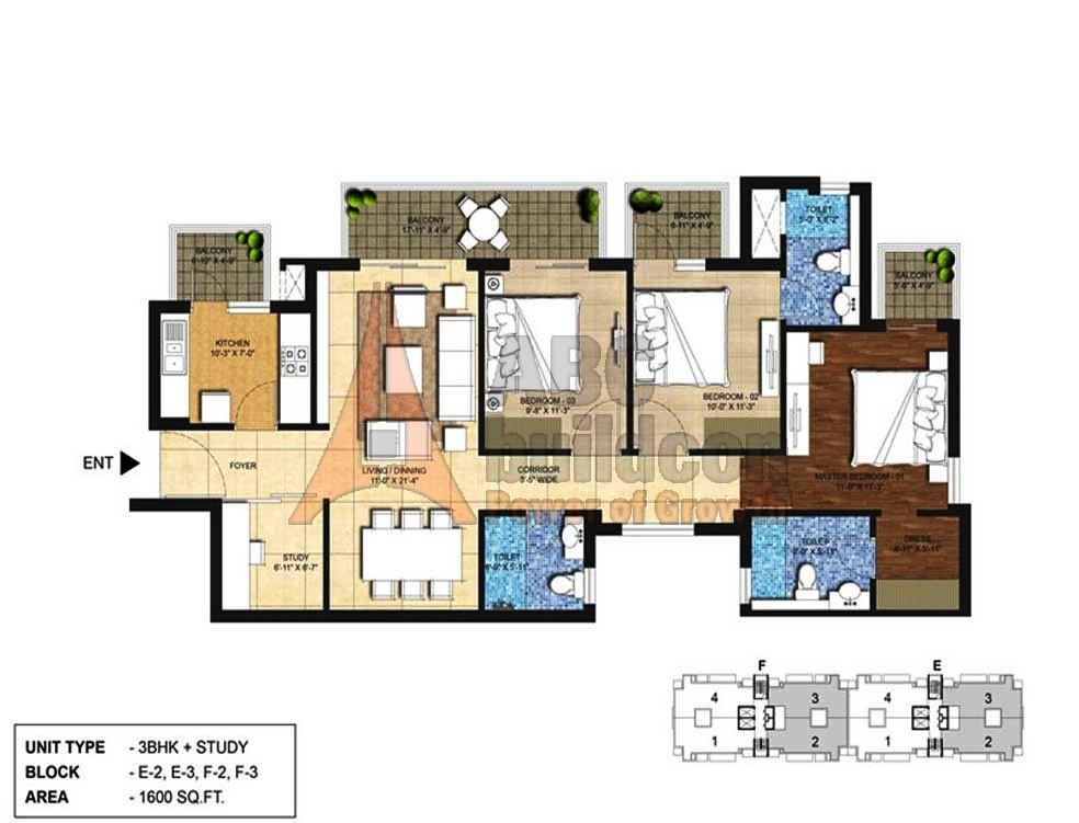 Indiabulls centrum park floor plan archives for Bathroom 94 percent