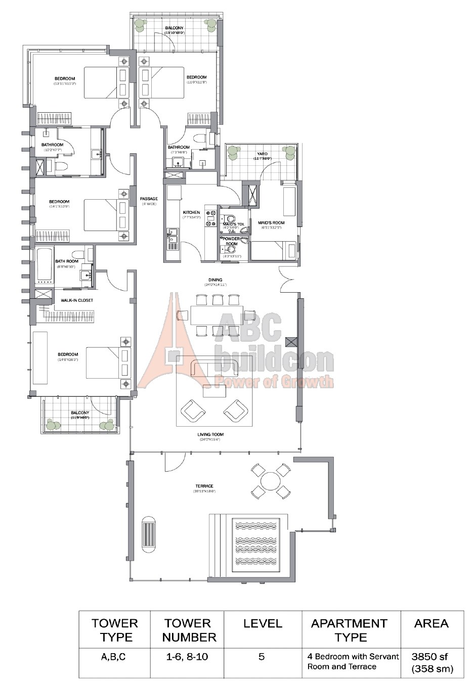 M3M Merlin Floor Plan