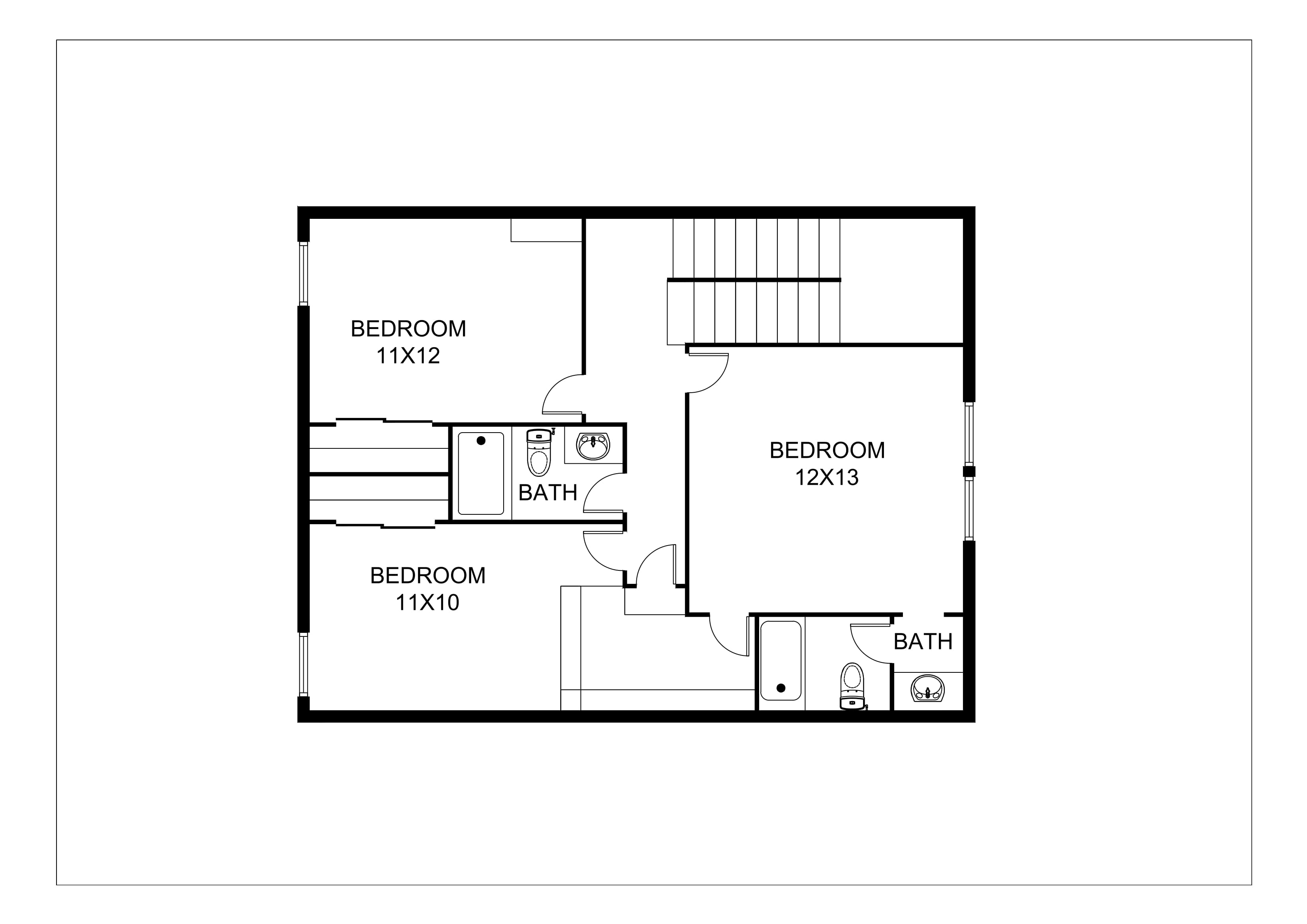 Real Estate 2D Floor Plans – Design / Rendering