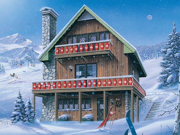 Inglewood Ski Chalet Home Plan 008D0150  House Plans and More