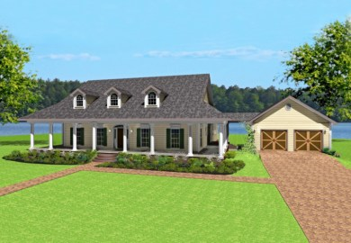 Single Floor House Plans Wrap Around Porch