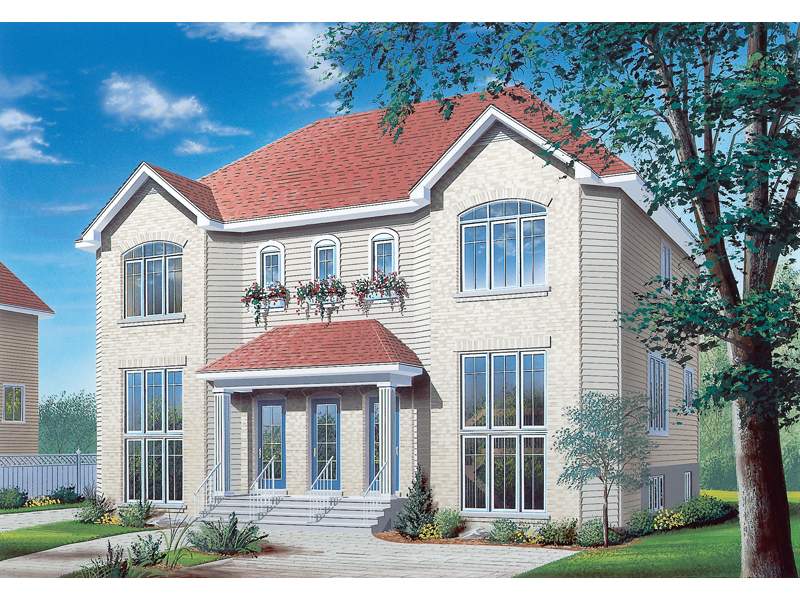 Hennessey MultiFamily Triplex Plan 032D0377  House Plans and More