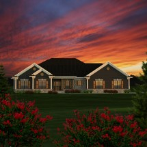 Ranch Style House Plans Garage in Front