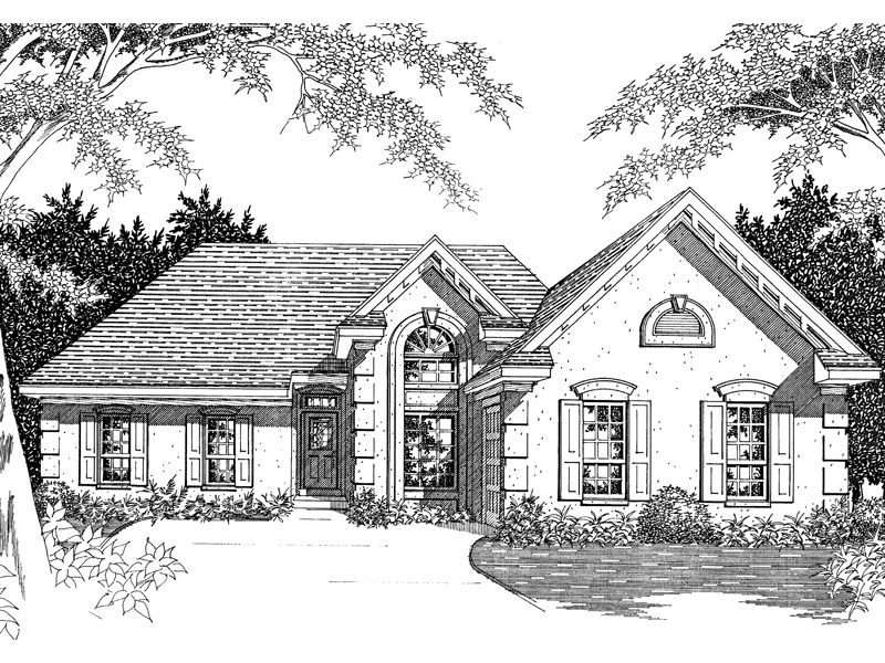 Seabrook Isle Sunbelt Ranch Home Plan 060D 0040 House