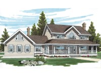 Wrexham Country Farmhouse Plan 062D-0015 | House Plans and ...