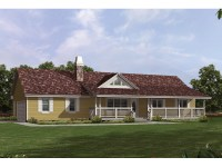 Valhalla Hill Country Ranch Home Plan 062D