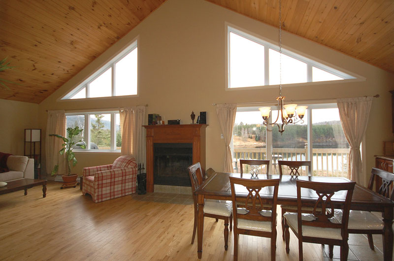 Green Garden Modern Ranch Home Plan 072D 0363 House