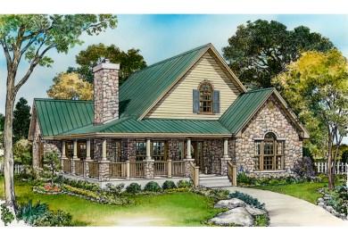 Parsons Bend Rustic Cottage Home Plan 095d House Plans