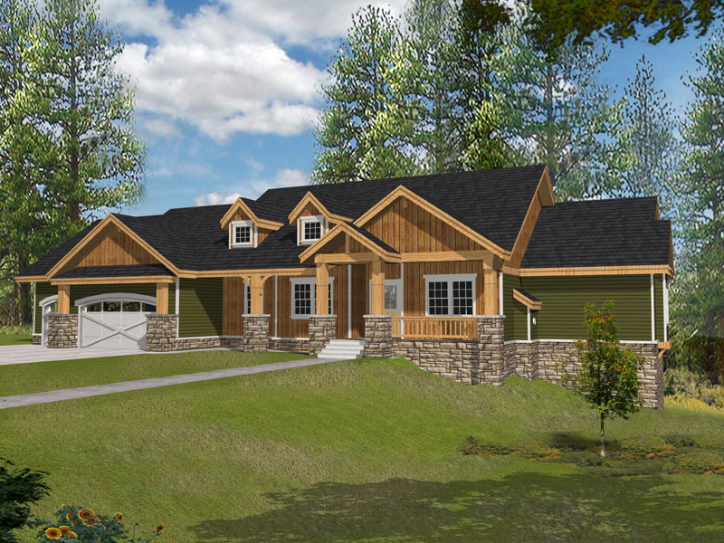 Muirfield Castle Rustic Home Plan 096D 0038 House Plans And More