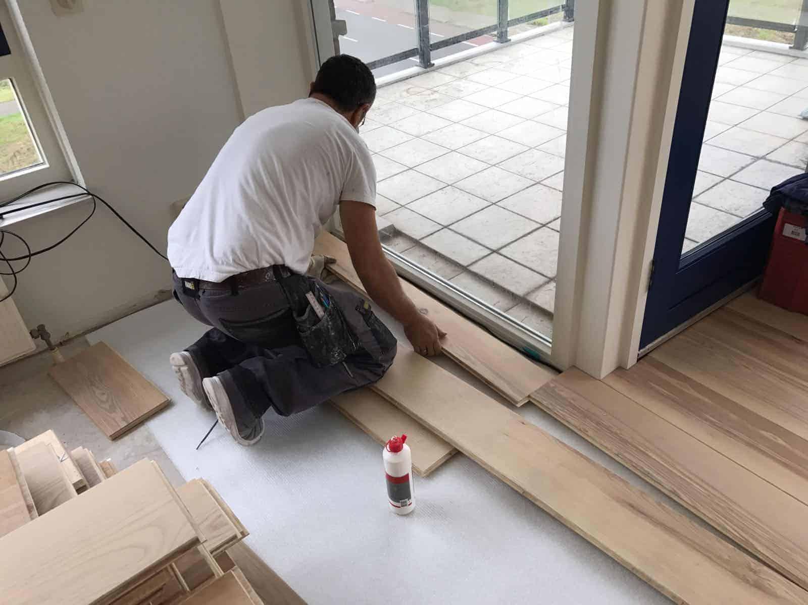 Werkzaamheden Floorplazanl  110m2  Houten Vloer leggen