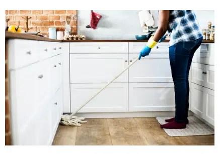 cleaning hardwood flooring