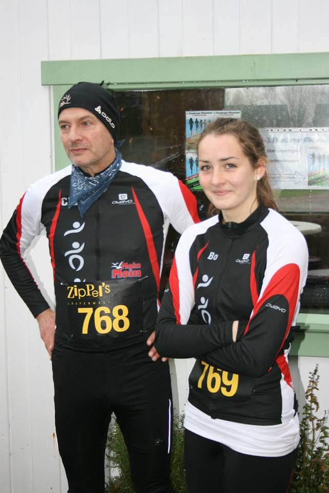 Claus und Nia, Winterlauf FL 2014