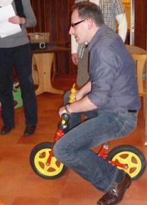 Jan beim Fahren