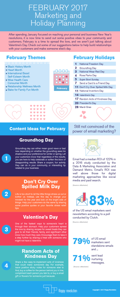 marketing planning February infographic
