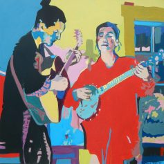 """©Flora Doehler Song of Passion Acrylic on canvas 24"""" x 24"""" $850 (Teichert Gallery, Halifax)"""