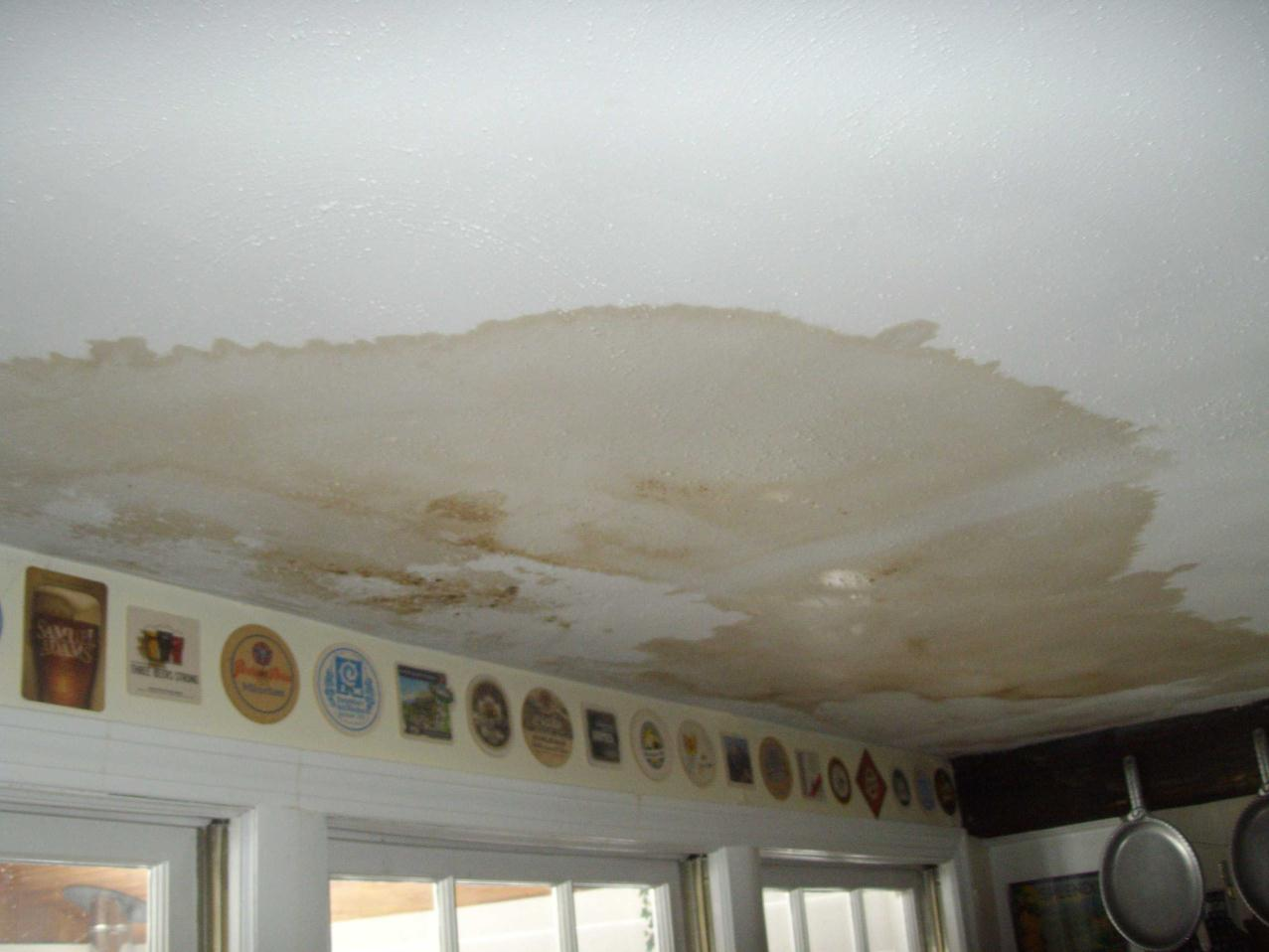 How to Repair Ceiling Stains & Water Damage