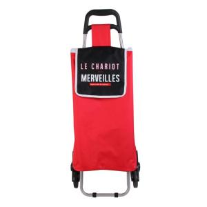 Chariot Shopping 6 roues Orchis Rouge